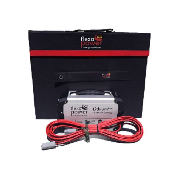 FLEXOPOWER Combo Mojave Foldable Solar Panel & LITHIUM444 Portable Power Pack, 150W