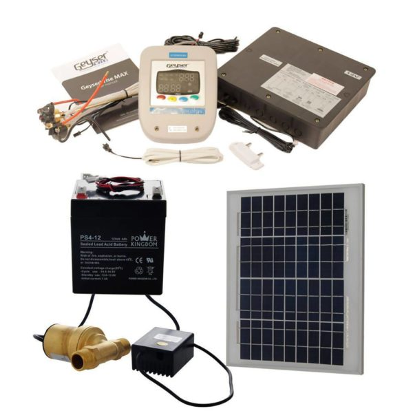 GEYSERWISE Max 12V Solar Kit for Pumped Solar Geyser