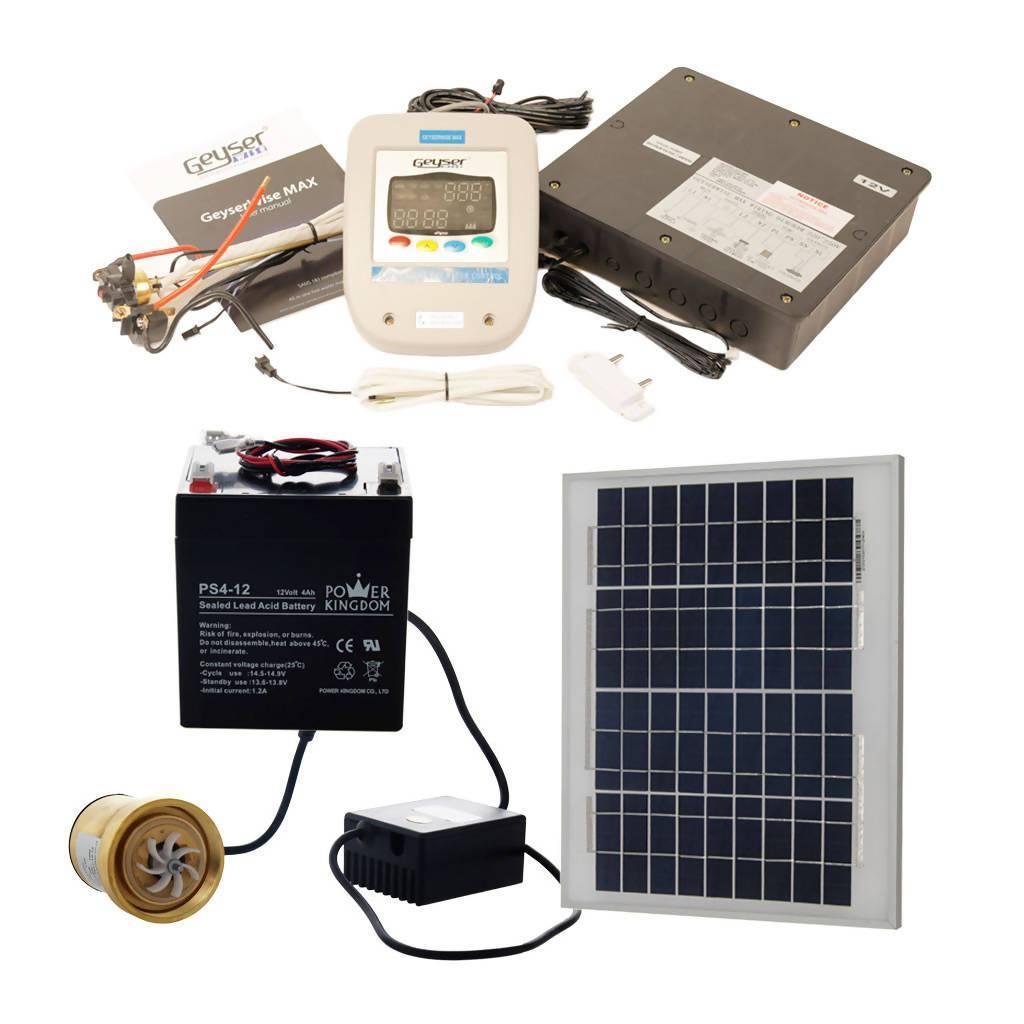 GEYSERWISE Max 12V Solar Kit for Pumped Solar Geyser