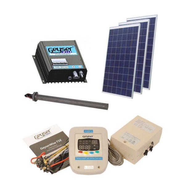 GEYSERWISE Solar PV Water Heating Retrofit Kit for 150L Geyser, 3x 250W Panels Included, High Irradiation Area