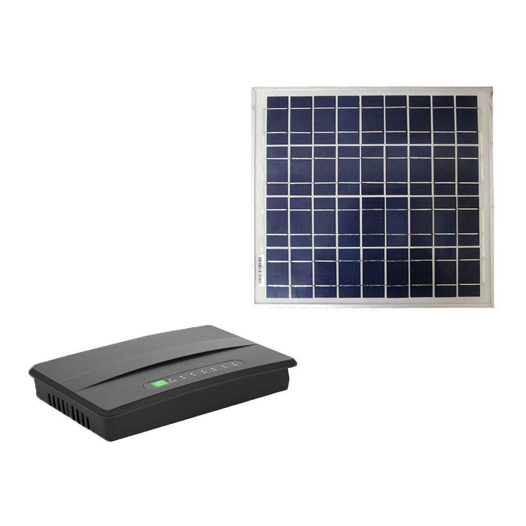 OmniPower Ratel 430S Micro DC-to-DC UPS, 30W, with Polycrystalline Solar Panel, 15W