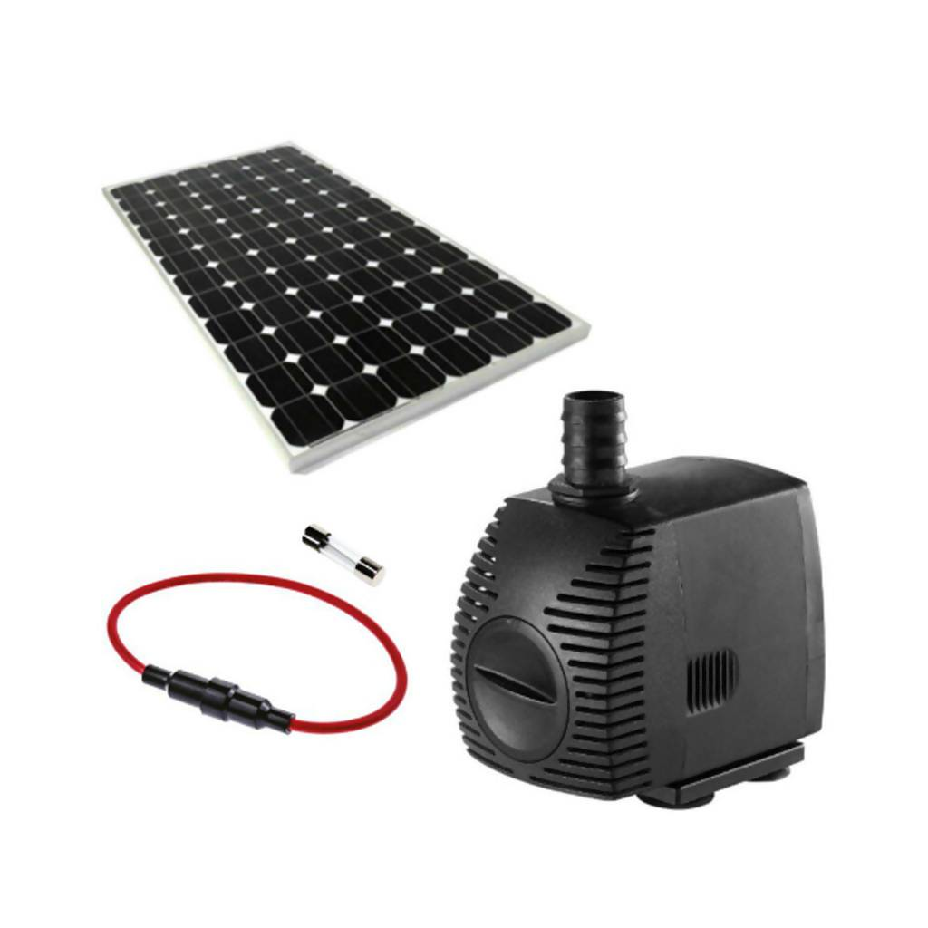 Solar Water Feature Pump With 30W Solar Panel & Fuse, 600L/Hr, 12V
