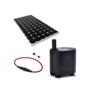 Solar Water Feature Pump With 30W Solar Panel & Fuse, 800L/Hr, 12V