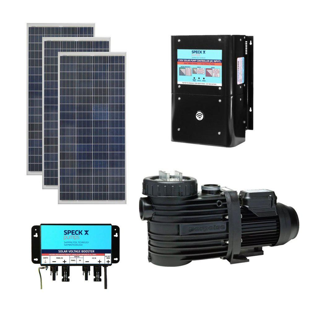 SPECK BADU Self-Priming Solar Circulation System With 0.45kW Pump, 3 x Solar Panels, 3 x Boosters & Controller (0.45kW, 230V)