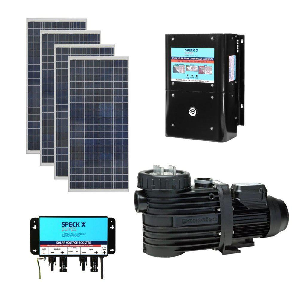SPECK BADU Self-Priming Solar Circulation System With 0.75kW Pump, 4 x Solar Panels, 4 x Boosters & Controller (0.75kW, 230V)
