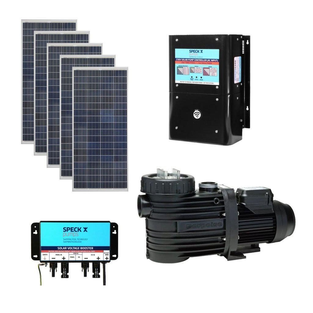 SPECK BADU Self-Priming Solar Circulation System With 1.1kW Pump, 5 x Solar Panels, 5 x Boosters & Controller (1.1kW, 230V)