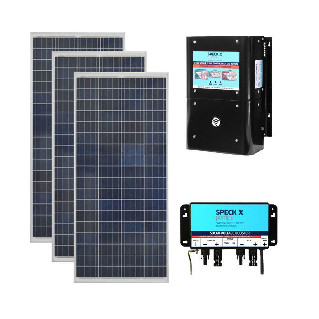 SPECK BADU Self-Priming Solar Circulation System With 3 x Solar Panels, 3 x Boosters & Controller