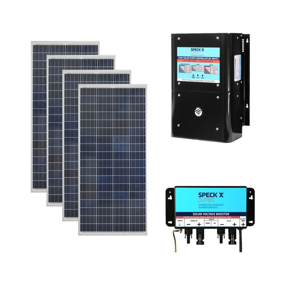SPECK BADU Self-Priming Solar Circulation System With 4 x Solar Panels, 4 x Boosters & Controller