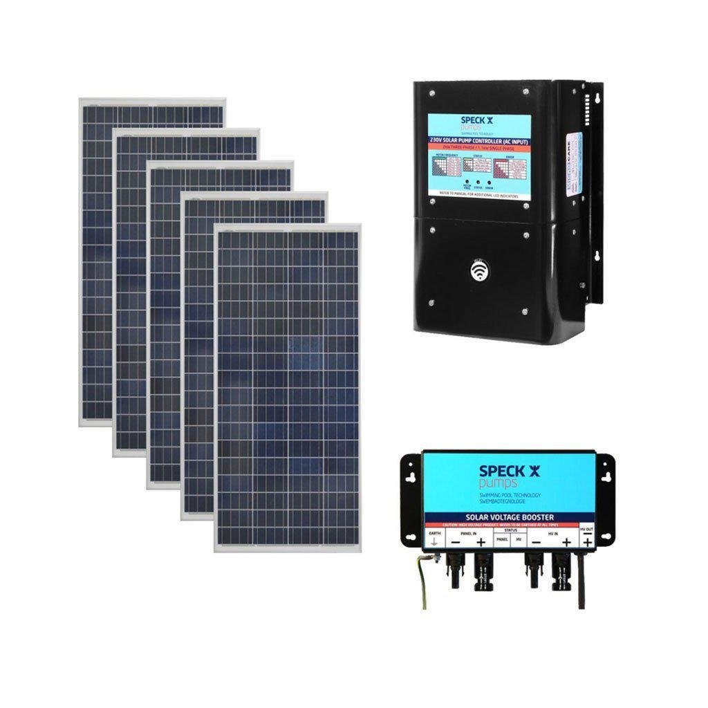 SPECK BADU Self-Priming Solar Circulation System With 5 x Solar Panels, 5 x Boosters & Controller
